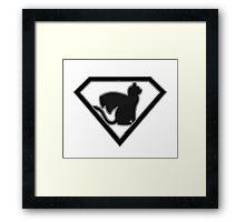Supercat B&W  Framed Print