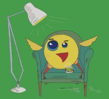 Yellow Bird Has Tea One Piece - Short Sleeve