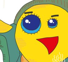 Yellow Bird Has Tea Sticker