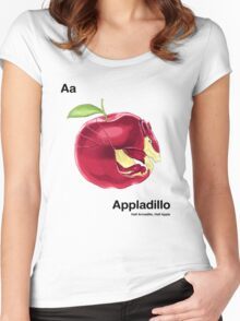 Aa - Appladillo // Half Armadillo, Half Apple Women's Fitted Scoop T-Shirt