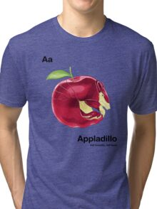Aa - Appladillo // Half Armadillo, Half Apple Tri-blend T-Shirt