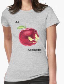 Aa - Appladillo // Half Armadillo, Half Apple Womens Fitted T-Shirt