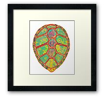 Psychedelic Turtle Framed Print