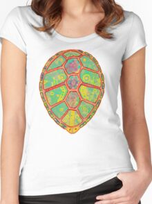 Psychedelic Turtle Women's Fitted Scoop T-Shirt