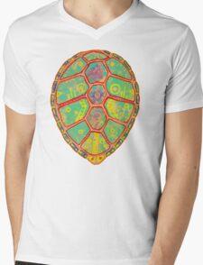 Psychedelic Turtle Mens V-Neck T-Shirt