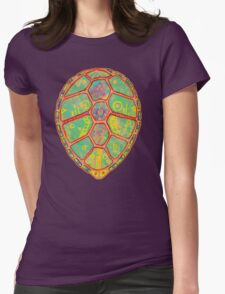Psychedelic Turtle Womens Fitted T-Shirt