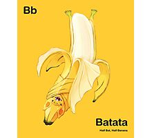Bb - Batata // Half Bat, Half Banana Photographic Print