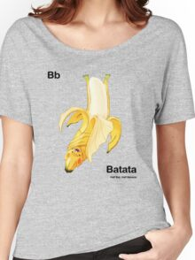 Bb - Batata // Half Bat, Half Banana Women's Relaxed Fit T-Shirt