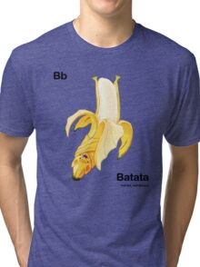 Bb - Batata // Half Bat, Half Banana Tri-blend T-Shirt
