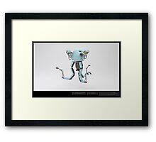 Mr Handy - 3D Model  Framed Print