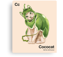Cc - Cococat // Half Cat, Half Coconut Canvas Print