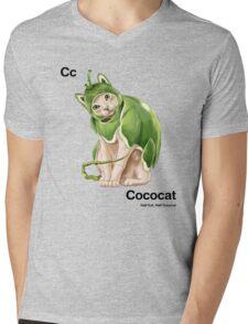 Cc - Cococat // Half Cat, Half Coconut Mens V-Neck T-Shirt