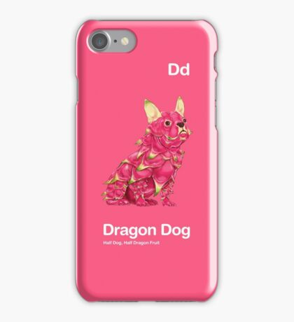 Dd - Dragon Dog // Half Dog, Half Dragon Fruit iPhone Case/Skin