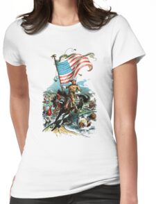1902 Rough Rider Teddy Roosevelt Womens Fitted T-Shirt