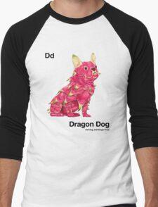 Dd - Dragon Dog // Half Dog, Half Dragon Fruit Men's Baseball ¾ T-Shirt