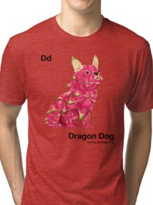 Dd - Dragon Dog // Half Dog, Half Dragon Fruit Tri-blend T-Shirt
