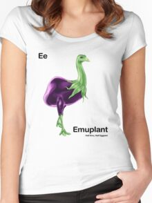 Ee - Emuplant // Half Emu, Half Eggplant Women's Fitted Scoop T-Shirt