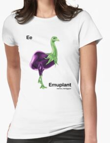 Ee - Emuplant // Half Emu, Half Eggplant Womens Fitted T-Shirt