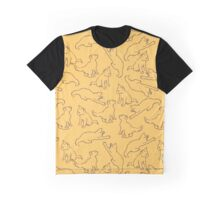 Kitty playing on yellow Graphic T-Shirt