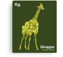 Gg - Girappe // Half Giraffe, Half Grape Canvas Print