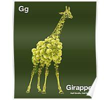 Gg - Girappe // Half Giraffe, Half Grape Poster