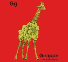 Gg - Girappe // Half Giraffe, Half Grape One Piece - Long Sleeve
