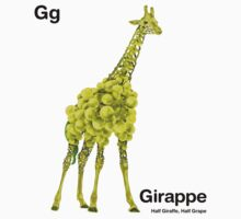 Gg - Girappe // Half Giraffe, Half Grape One Piece - Long Sleeve