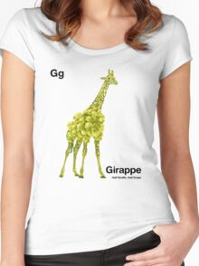 Gg - Girappe // Half Giraffe, Half Grape Women's Fitted Scoop T-Shirt