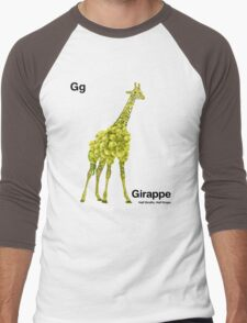 Gg - Girappe // Half Giraffe, Half Grape Men's Baseball ¾ T-Shirt