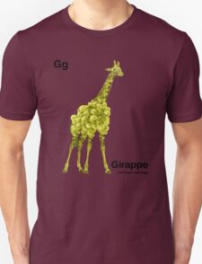 Gg - Girappe // Half Giraffe, Half Grape Unisex T-Shirt
