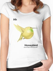 Hh - Honeybird // Half Hummingbird, Half Honeydew Melon Women's Fitted Scoop T-Shirt