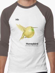 Hh - Honeybird // Half Hummingbird, Half Honeydew Melon Men's Baseball ¾ T-Shirt