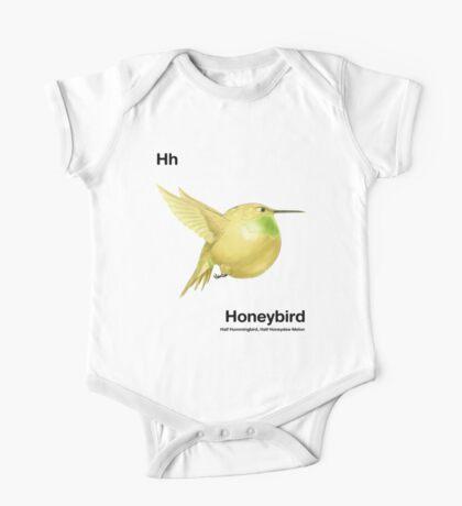 Hh - Honeybird // Half Hummingbird, Half Honeydew Melon One Piece - Short Sleeve