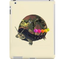 """Born to Chill"" Full Metal Snail Turtle iPad Case/Skin"