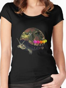 """Born to Chill"" Full Metal Snail Turtle Women's Fitted Scoop T-Shirt"