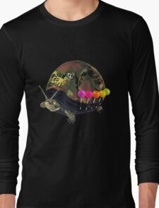 """Born to Chill"" Full Metal Snail Turtle Long Sleeve T-Shirt"