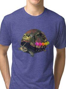 """Born to Chill"" Full Metal Snail Turtle Tri-blend T-Shirt"