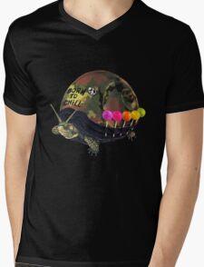 """Born to Chill"" Full Metal Snail Turtle Mens V-Neck T-Shirt"