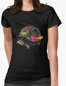 """Born to Chill"" Full Metal Snail Turtle Womens Fitted T-Shirt"