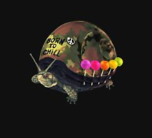 """Born to Chill"" Full Metal Snail Turtle T-Shirt"