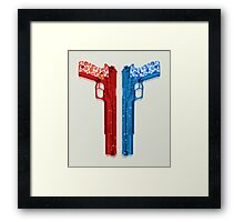 "Long Weekend ""Happy Songkran"" Pistol Framed Print"