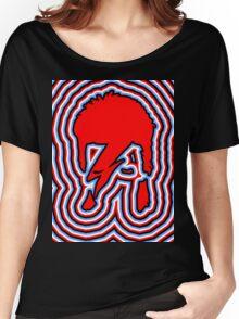 DAVID BOWIE - LIGHTNING BOLT Women's Relaxed Fit T-Shirt