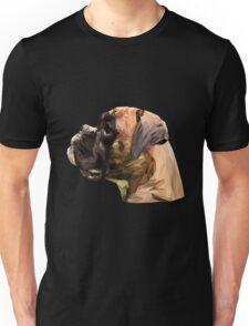 Boxer low poly. Unisex T-Shirt