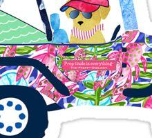 Preppy Jeep Sticker
