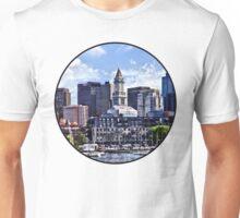 Boston MA - Skyline With Custom House Tower Unisex T-Shirt
