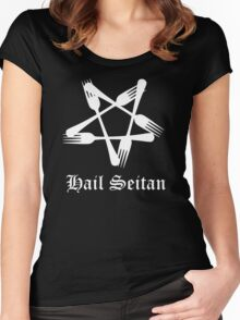 Hail Seitan Women's Fitted Scoop T-Shirt