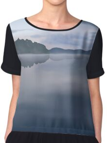 A lake in Finland Chiffon Top
