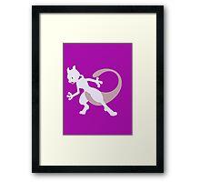 Mewtwo- Legendary Pokemon Framed Print