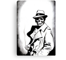 Skeleton Expatriate Canvas Print