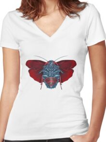Supermang // Mang of Stealth Women's Fitted V-Neck T-Shirt